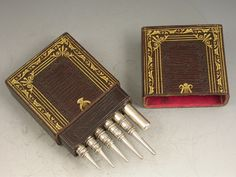 Rare Cased Set Graduated Silver Artists Pencils, SAMPSON MORDAN & CO c1830 - 1845