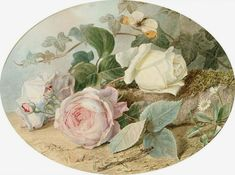 Buy online, view images and see past prices for Mary Elizabeth Duffield (British, Invaluable is the world's largest marketplace for art, antiques, and collectibles. Vintage Paper, Vintage Art, Vintage Ephemera, Vintage Flowers, Vintage Floral, Vintage Rosen, Rose Pictures, Rose Art, Decoupage Paper
