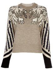 CARVEN / gargoyle jacquard sweater