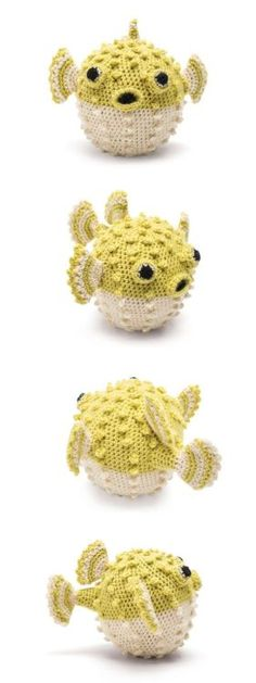 "knittingcountess: "" podkins: "" Puffer Fish Amigurumi - A Free Pattern Holy hell! YES! This little guy is the best! cut out and keep shares a free pattern. Must make one right NOW! "" What a charming summer – or otherwise – project! """