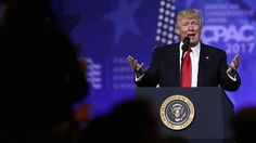 U.S. President Donald Trump speaks during the Conservative Political Action Conference at the Gaylord National Resort and Convention Center February 24, 2017 in National Harbor, Maryland.