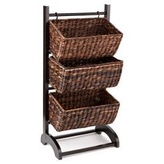 Check out this item at One Kings Lane! 3-Tier Basket Cubby, Espresso
