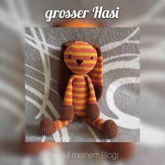 Häkelanleitung Hase, Hase gehäkelt  #crochet #crochetpattern #häkelanleitung #nephihandmade