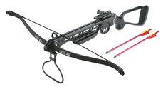 Range right skeleton stock crossbow 150lb draw weight Features lightweight aluminium stock rail and fibreglass limbs Comes complete with 2 bolts You