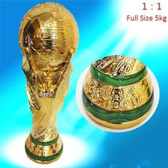 Fifa #world cup trophy replica national #football soccer #model gift 36cm full si,  View more on the LINK: http://www.zeppy.io/product/gb/2/201687281077/