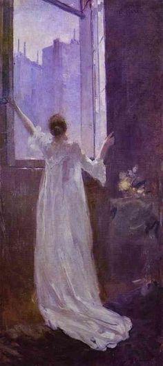 Konstantin Korovin: Por la ventana.