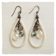 Try some earrings with pearl loops like this