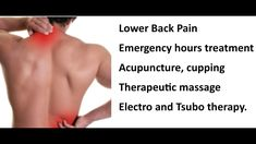 Acupuncture, Back Pain, Massage, Therapy, Massage Therapy