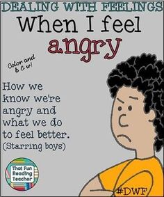 When I Feel #Angry is a children's story about recognizing, expressing and managing anger. #Printable, in color and b&w! $