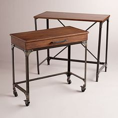 Rowley Nesting Desk, Set Of 2 | World Market Small Home: Could Double As