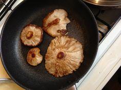 giant mushroom steak!  オバケ椎茸のソテー