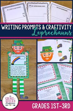This is the perfect March craft for kids and students! A leprechaun craft that includes writing. Add it to your bulletin board for March and you're all set!
