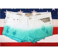 low-waist denim shorts