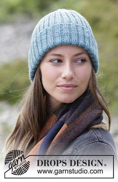 Knitted hat with rib. The piece is worked in DROPS Karisma. Lace Knitting, Knitting Patterns Free, Knit Crochet, Crochet Hats, Hipster Hat, Drops Design, Crochet Diagram, Knitted Shawls, Chain Stitch