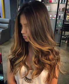 Dark Gold Highlights For Brunettes