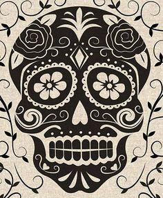 vintage skull stencils - Google Search