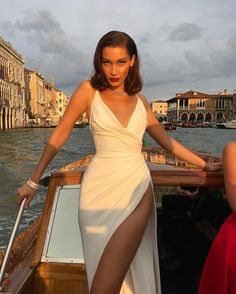 Bella Hadid Dress Thigh High Slit