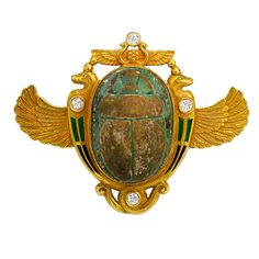 Egyptian Revival Brooch  1875  1stdibs.com
