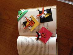Angry bird bookmark corners