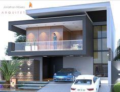 Modern Exterior House Designs, Bungalow Exterior, Dream House Exterior, Dream House Plans, Small House Plans, Modern House Design, Bungalow House Design, House Front Design, Modern Architecture