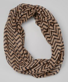 Love this Brown Chevron Scarf on #zulily! #zulilyfinds