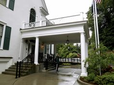 Porte Cochere with stairs to door.  Governor's House, Juneau, Alaska