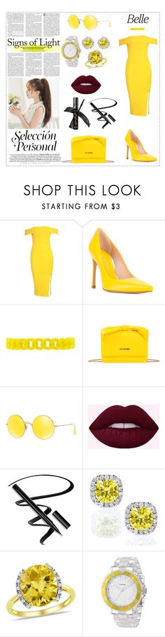 """Yellow Shoes"" by danielle-valentine-666 ❤ liked on Polyvore featuring Boohoo, Stuart Weitzman, Forever 21, Love Moschino, Ray-Ban, Kobelli, Ice and Vernier"
