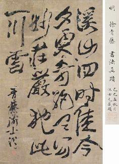 明代 - 徐渭  書法真蹟                            Xu Wei (1521-1593), Ming Dynasty