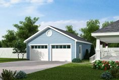 Elevation of Country   Traditional   Garage Plan 30000