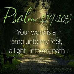 Psalm 119:105.....Thy word is a lamp unto my feet, and a light unto my path.
