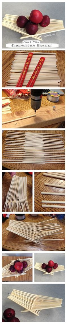 How to Make a Chopsticks Basket -  This project only took about 15 minutes to put together!  | iSaveA2Z.com