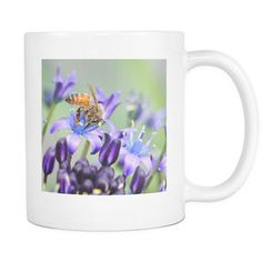 Flying Honey Bee Mugs, Gifts for Nature Lovers, 11 oz Ceramic Coffee Cup