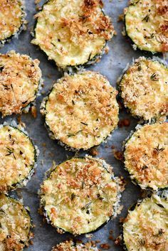 Baked Zucchini Parmesan Crisps | http://foodiecrush.com