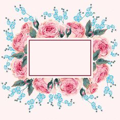 Watercolor Background, Watercolor Print, Watercolor Flowers, Frame Floral, Flower Frame, Wallpaper Backgrounds, Iphone Wallpaper, Wallpapers, Borders And Frames