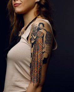 Sleeve Tattoos for Women - Tattoo - Tattoo Frauen Great Tattoos, Beautiful Tattoos, Body Art Tattoos, Tribal Tattoos, Arm Tattoos, Tatoos, Piercings, Muster Tattoos, Girls With Sleeve Tattoos