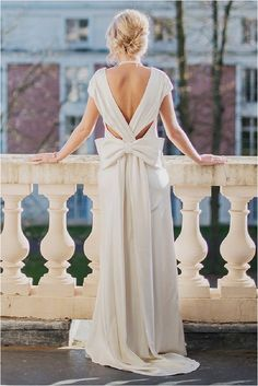 BHLDN dress from behind with fabulous big bow   Image by Claire Morris