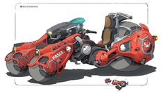Cool artwork by Heng Z! Futuristic Motorcycle, Futuristic Art, Robot Concept Art, Concept Cars, Dirigible Steampunk, Crea Design, Nave Star Wars, Wallpaper Animes, Concept Motorcycles