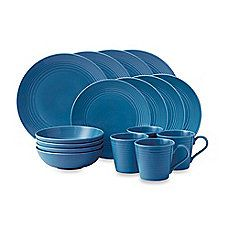 image of Gordon Ramsay by Royal Doulton® Maze 16-Piece Dinnerware Set in Denim