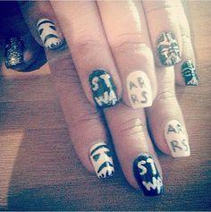 #starwars #nails #nailart #darthvader #naildesigns