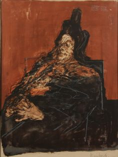 CLAUDE WEISBUCH (French, 1927).  Portrait, color lithograph.