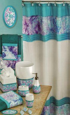 Shower Curtains bathroom ensembles shower curtains : Daisy Stitch Shower Curtain Lilac | Bath Ensembles | Pinterest ...
