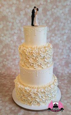 Buttercream Beauty Wedding Cake - Cake by Cakes ROCK!!!