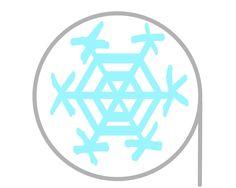 はさみ練習プリント無料ダウンロード【雪の結晶】丸・曲線切り