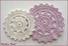Natas Nest: crocheted doily pattern--so simple and pretty looking.