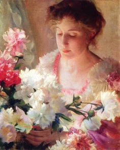 The Athenaeum - Peonies and Rose Charles Courtney Curran - 1903 David Owsley Museum of Art - Muncie, Indiana (United States) Painting - oil on canvas Height: 56.2 cm (22.13 in.), Width: 46.04 cm (18.13 in.)