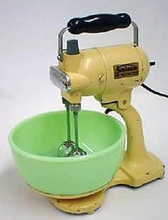 Vintage mixer. I still have one. These things are so heavy!