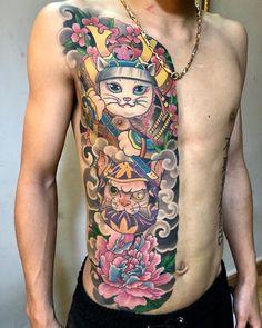 Japanese Tattoo Symbols, Japanese Tattoo Art, Japanese Sleeve Tattoos, Dragon Tattoo Arm, Arm Tattoo, Samoan Tattoo, Polynesian Tattoos, Tattoo Ink, Frog Tattoos