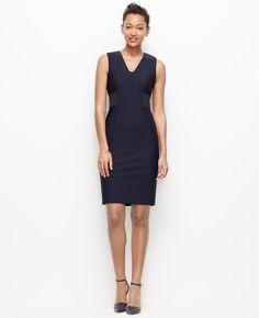 Primary Image of Scuba Side Elastic Sheath Dress