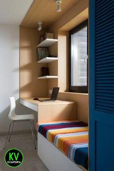 46 hidden storage ideas for small spaces 42 Bedroom Furniture Design, Bedroom Cupboard Designs, Bedroom Interior, House Interior, Home Office Design, Home Interior Design, Small Bedroom Interior, House Interior Decor, Window Seat Design
