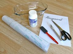 Keep Calm & DIY: Glass Etching Photo-Tutorial <--- Make your own stencil thingy